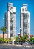 Nuevos edificios altos en Beer Sheva Fotografía de archivo libre de regalías