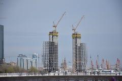 Nuevos edificios de Baku Fotografía de archivo