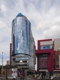 Nuevos edificios de Ekaterinburg Centro de ciudad Calle de Radishchev russ Imagen de archivo libre de regalías