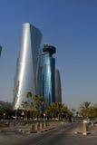 Nuevos edificios en Doha, Qatar Foto de archivo libre de regalías