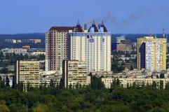 Nuevos edificios en Kiev Fotos de archivo libres de regalías
