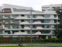 Nuevos edificios residenciales en Milán, Italia Fotos de archivo libres de regalías