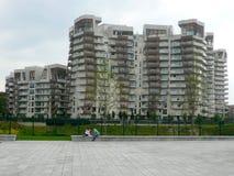 Nuevos edificios residenciales en Milán, Italia Imágenes de archivo libres de regalías