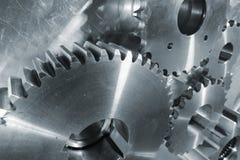Nuevos engranajes del titanio y del acero Fotografía de archivo