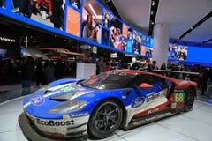 Nuevos 2018 Ford GT en la exhibición en el salón del automóvil internacional norteamericano Imagen de archivo libre de regalías