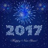 Nuevos fuegos artificiales de 2017 años Imagenes de archivo
