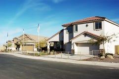 Nuevos hogares modelo Foto de archivo libre de regalías
