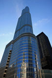 Nuevos hotel y condominio modernos en Chicago Foto de archivo libre de regalías