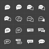 Nuevos iconos de la burbuja del discurso Imágenes de archivo libres de regalías