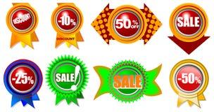 Nuevos iconos de la venta al por menor Info de la venta Foto de archivo