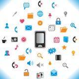 Nuevos iconos del teléfono - conjunto del vector. Fotografía de archivo libre de regalías