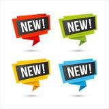Nuevos iconos del vector - etiquetas de papel de la papiroflexia Imagenes de archivo