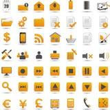 Nuevos iconos del web Imágenes de archivo libres de regalías