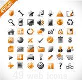 Nuevos iconos del Web y del mutimedia Fotos de archivo