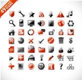Nuevos iconos del Web y del mutimedia Fotos de archivo libres de regalías