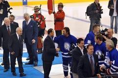 Nuevos inductees del salón de la fama del hockey Imagen de archivo libre de regalías
