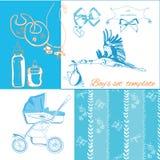 Nuevos items del bebé fijados foto de archivo libre de regalías