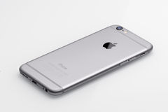 Nuevos lado trasero del iPhone 6 de Apple Foto de archivo libre de regalías
