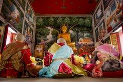 Nuevos monjes budistas Imagen de archivo libre de regalías