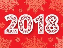 Nuevos números adornados de 2018 años para el corte del laser Fotografía de archivo libre de regalías