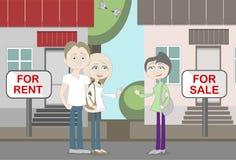 Nuevos neighboors para el alquiler y la venta Fotografía de archivo