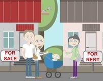 Nuevos neighboors para el alquiler y la venta Fotos de archivo libres de regalías