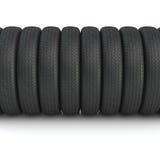 Nuevos neumáticos negros 3d Fotos de archivo libres de regalías