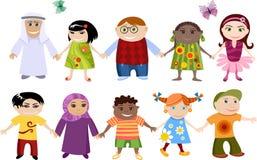 Nuevos niños fijados ilustración del vector