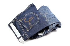 Nuevos pantalones vaqueros imagenes de archivo