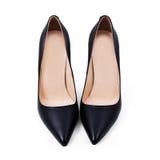 Nuevos pares de zapatos elegantes negros Foto de archivo
