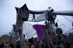 Nuevos patio y museo del proyecto de la música de la experiencia Imagenes de archivo