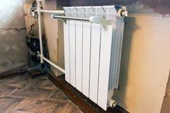 Nuevos radiadores instalados Fotografía de archivo libre de regalías