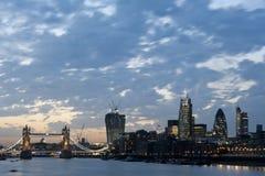 Nuevos rascacielos 2013 de Londres Imagen de archivo libre de regalías
