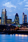 Nuevos rascacielos 2013 de Londres Imágenes de archivo libres de regalías
