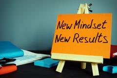 Nuevos resultados del nuevo modo de pensar Inspiración y motivación fotografía de archivo libre de regalías