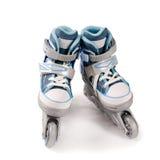 Nuevos rodillos de los niños aislados en blanco Imagen de archivo libre de regalías