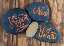 Nuevos saludos felices de 2017 años Imagen de archivo libre de regalías