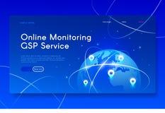 Nuevos servicios móviles de GPS Ejemplo isométrico moderno de la web foto de archivo libre de regalías