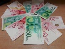 Nuevos shekels israel?es foto de archivo