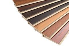 Nuevos tablones laminados del piso de entarimado de diversos colores 3d rinden Imagen de archivo