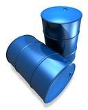 Nuevos tambores de petróleo Foto de archivo libre de regalías