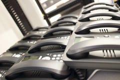 Nuevos teléfonos modernos del negocio de la oficina Imagen de archivo