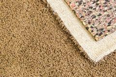 Nuevos tirados alfombra y acolchado en sitio Imágenes de archivo libres de regalías