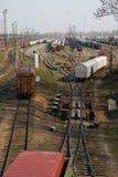 Nuevos trenes de la formación Foto de archivo libre de regalías