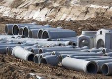 Nuevos tubos de agua grandes foto de archivo libre de regalías