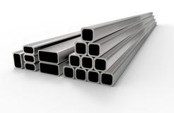 Nuevos tubos del metal Foto de archivo libre de regalías
