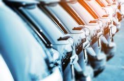 Nuevos vehículos en la acción Imagen de archivo
