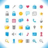 Nuevos Web-iconos. Foto de archivo libre de regalías