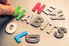 Nuevos y viejos hábitos Imagen de archivo