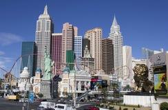 Nuevos York-nuevos hotel y casino de York en la tira en Las Vegas fotografía de archivo